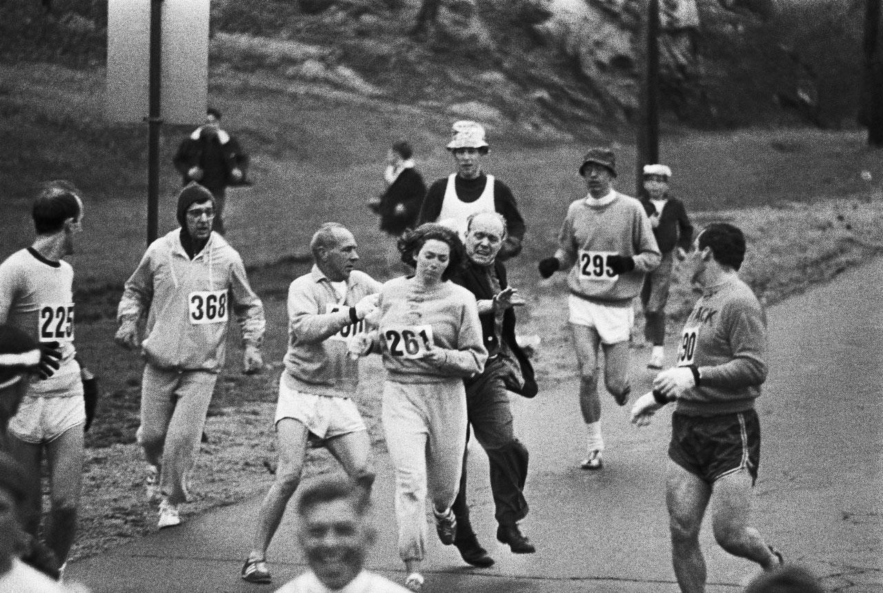 Kathrin Switzer en Boston - Locos por correr