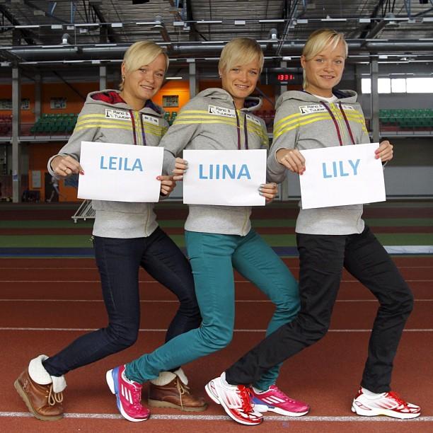 Leila, Liina y Lily Luik - Trillizas olímpicas - Locos por correr