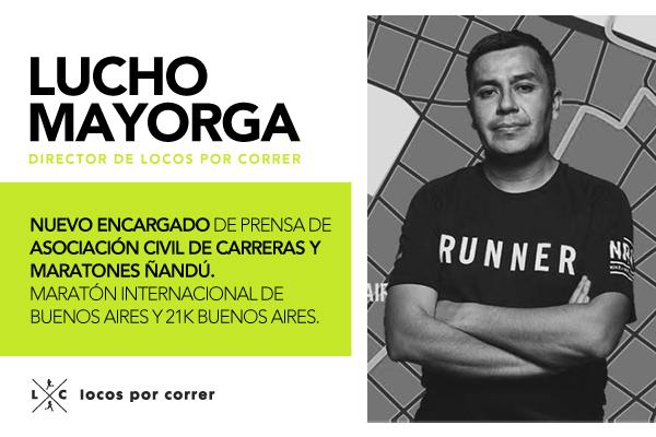 Lucho Mayorga - Jefe de Prensa Maraton de Buenos Aires