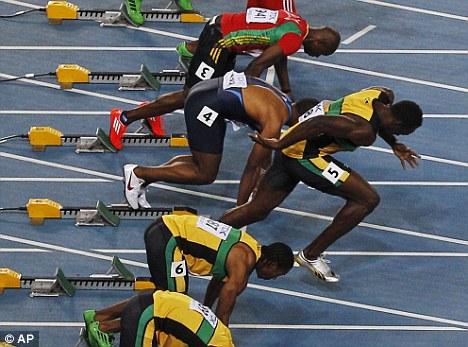 Salida en falso de Usain Bolt . Daegu 2011 - Locos por correr
