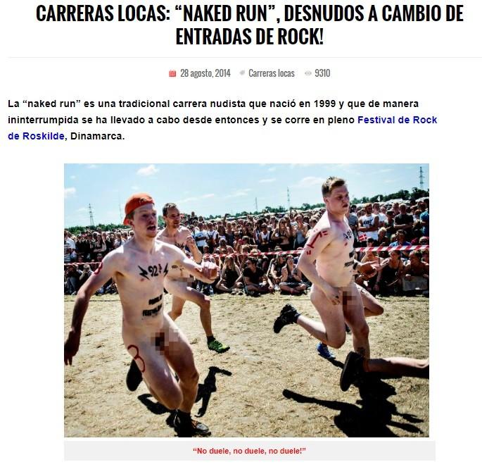 Carrera Nudista Naked Run