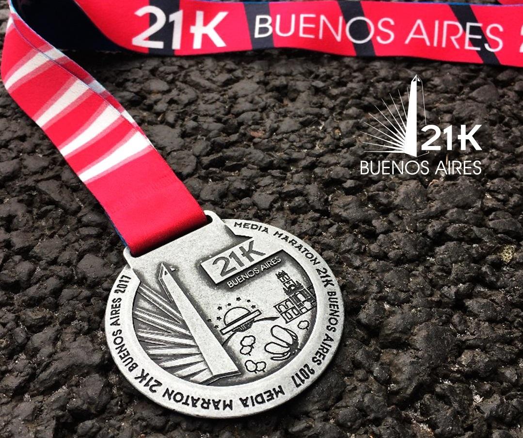 21k buenos aires 2017 medalla locos por correr