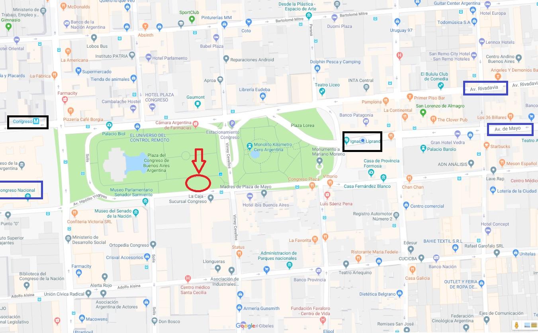 Mapa de ubicación CONGRESO