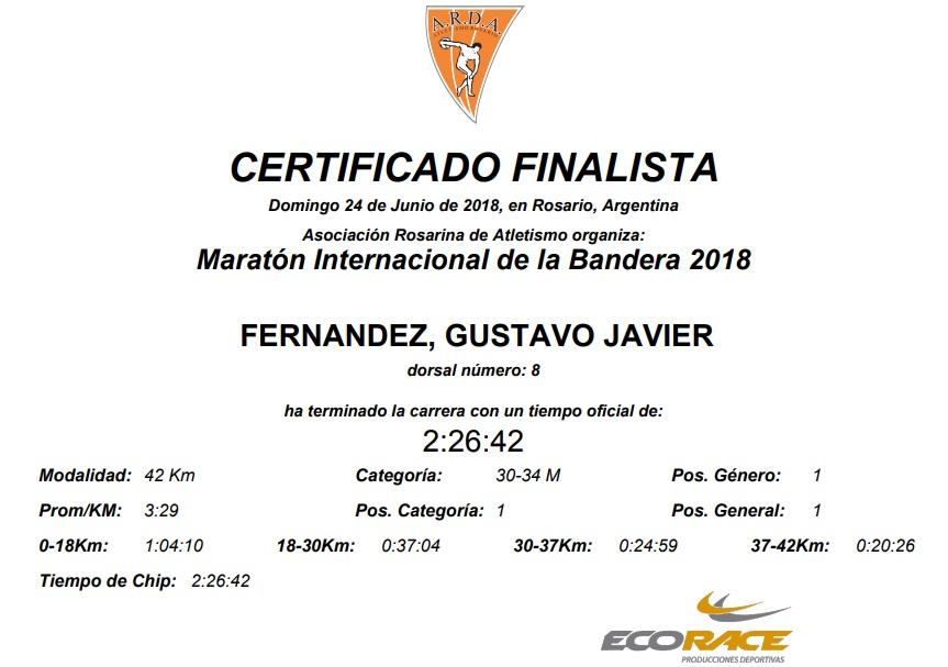 42k Rosario 2018 certificados